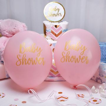 Baby Shower Pink Balloons - pack of 8
